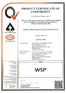 ANQAS Certificate MSCL Pipes BS 534-1990