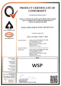 ANQAS Certificate MSCL Pipes TS 21827 Part 1